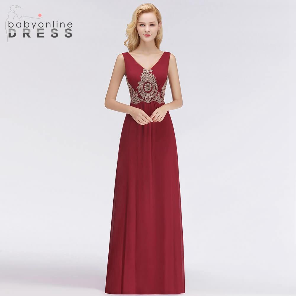 BabyonlineDress Elegant V Back Design Lace Long   Evening     Dresses   2019 Fashion Floor Length Polyester Sleeveless   Evening   Gown