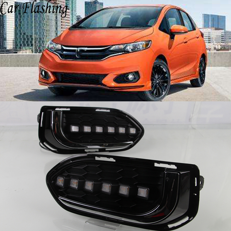 2019 Honda Jazz New Review: Car Flashin 1Set For Honda Jazz Fit 2018 2019 LED Daytime