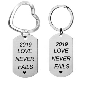 Jw.Org keychain 2018  Be Courageous charm keychain Stainless Steel  Military Metal key chain l lucky chaveiros gift  22*39 keychain