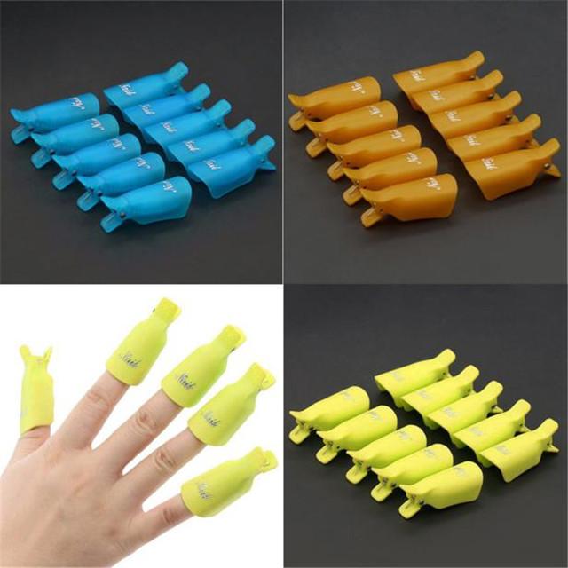 High Quality 10PC Plastic Nail Art Soak Off Cap Clip UV Gel Polish Remover Wrap Tool Nail Art Tips for Fingers Hot Selling