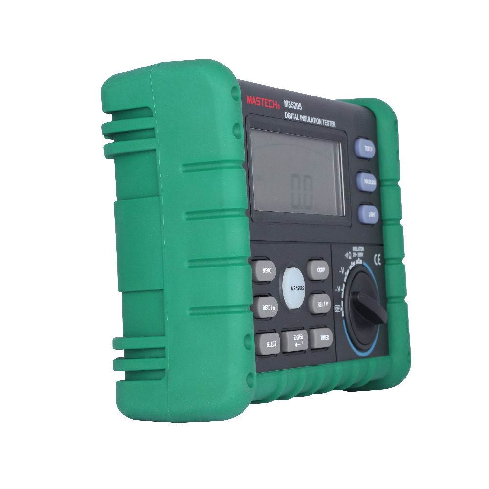 MASTECH MS5205 Digital Megger Insulation Tester Resistance Meter Multimeter mastech ms5215 high voltage digital insulation resistance tester megometro megger 5000v 3ma temp 10 70c