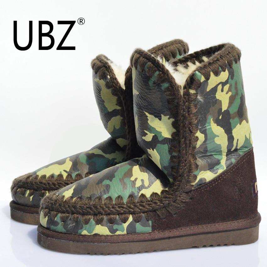 Подробнее о UBZ Hot Sale Women Genuine Sheepskin Leather Snow Boots 100% Natural Fur Snow Boots Warm Wool Winter Boots Free Shipping genuine sheepskin leather snow boots hot sale women100