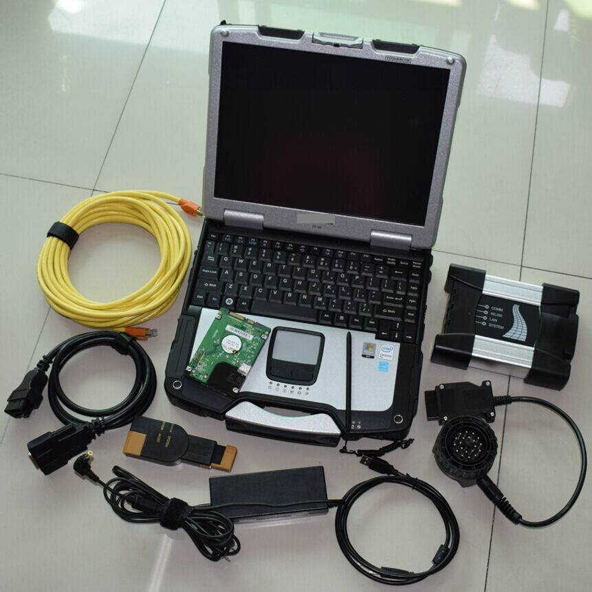 for bmw icom next with software laptop CF-30 RAM 4g hdd 500gb expert mode full set diagnositc programming tool 3in1 best price