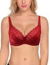 5e60627e38 Beauwear Female Plus Size Lingerie Full Figure Bras for Women Ultra Thin  Sexy Lace Underwear Soft