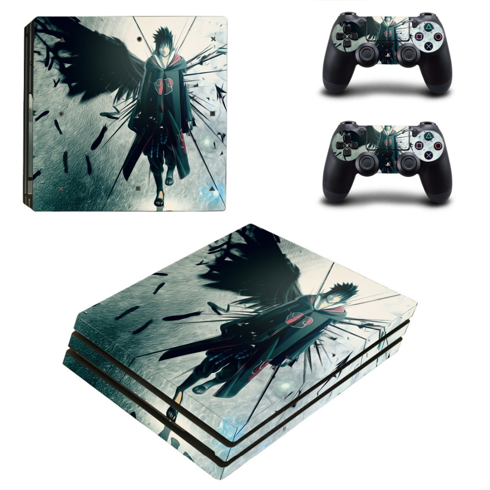 NARUTO Vinyl Ps4 PRO Console Skin Decal Sticker + 2 Controller Skins Set For Sony Playstation 4 Pro Console&Controllers