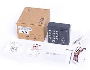 Image 5 - Cyfrowy elektryczny czytnik RFID finger kod skanera system biometryczny system kontroli dostępu z czytnikiem linii papilarnych X6 + 10 sztuk piloty