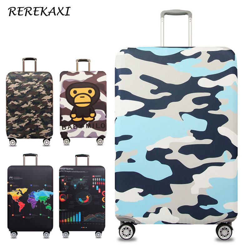 REREKAXI Luggage Suitcase Elastic Protection Cover,Trolley Case  Dust Cover,For 18-32 Inch Trunk Case Covers,Travel AccessoriesREREKAXI Luggage Suitcase Elastic Protection Cover,Trolley Case  Dust Cover,For 18-32 Inch Trunk Case Covers,Travel Accessories