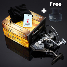 Double Spool Spinning reel Metal body Mix drag 15kg/32lb Super strength 12BB 5.5:1 fishing reel Saltwater Rod Combo