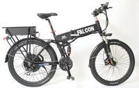 Double Layer Rear Rack LCD Display Red Electric Bike 48V 1000W Motor 48V 20Ah Li Ion