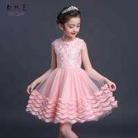 Summer Baby Kids Lace Dress for Girls 3 5 6 7 8 9 10 11 12 Years White Red Lace Tutu Dresses Girl party Princess Costume 32M1