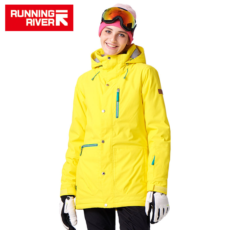 RUNNING RIVER Brand Women Snowboard Jackets For Winter Warm Mid-thigh Outdoor Sports Clothing High Quality Sport Jacket #A7023 running river brand winter thermal women ski down jacket 5 colors 5 sizes high quality warm woman outdoor sports jackets a6012