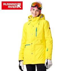 RUNNING RIVER Merk Vrouwen Snowboard Jassen Voor Winter Warm Halverwege dij Outdoor Kleding Hoge Kwaliteit Sport Jacket # A7023