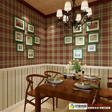 papel de parede Scottish tartan retro American country imported pure paper wallpaper bedroom living room dining background