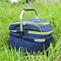 Trackman Outdoor picnic basket picnic bag ice pack insulation bag cooler box food basket, Handheld basket foldable picnic basket