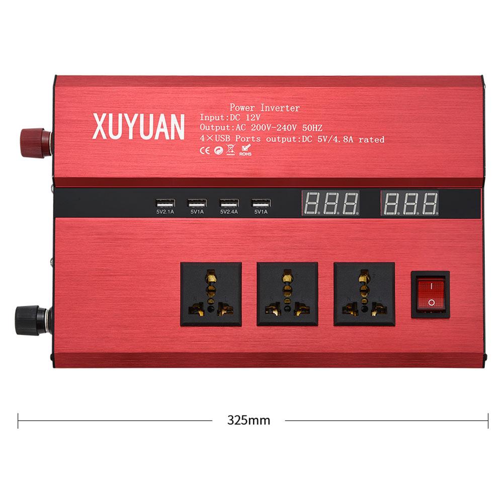 Модифицированный синусоидный инвентор с DC12V/24 V постоянного тока до AC110/220 V на открытом воздухе, автомобильный инвертор высокая производительность Питание преобразователь напряжения автомобиля Портативный