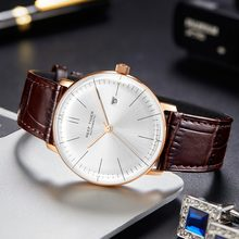 Latest Reef Tiger/RT Top Band Luxury Dress Watch for Men Brown Leather Rose Gold Automatic Watch Montre Homme Clock RGA8215