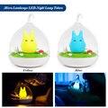 LemonBest Night Light Micro Landscape LED Night Lamp Rechargeable Touch Sensor USB Light Bedroom Art Decor Yellow/Blue