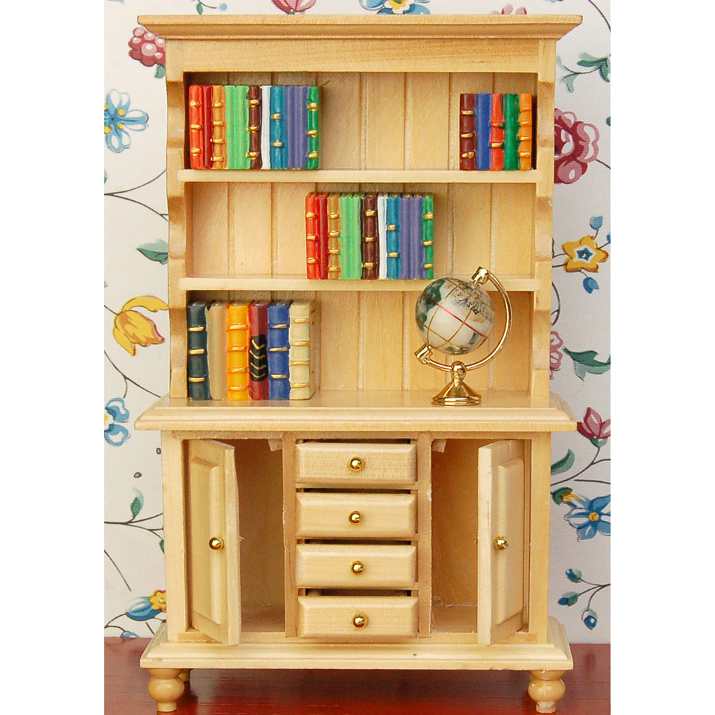 1//12 Dollhouse Decor  Miniature Furniture Wooden Bookshelf Model Room Accessory