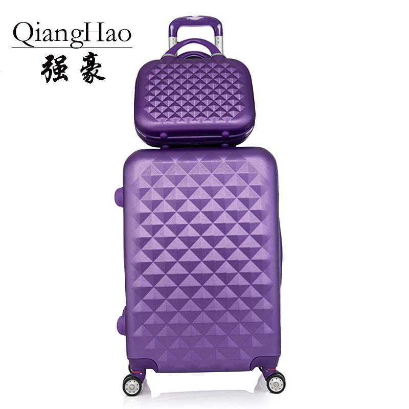 2 pcs / set cosmetics bag 14 inch 20 / 24 inch woman girl students trolley travel luggage suitcase box rotary unit can rolling travel aluminum blue dji mavic pro storage bag case box suitcase for drone battery remote controller accessories