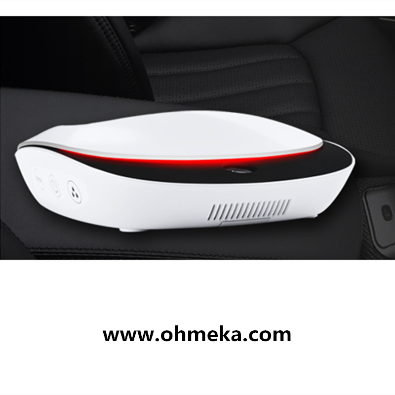Free shipping solar powered filter pm2.5 car air purifier negative ion mini car air purifier