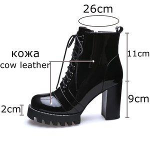 Image 2 - ALLBITEFO แฟชั่นของแท้หนังหนารองเท้าส้นสูงรองเท้าผู้หญิงส้นสูงรองเท้าหนังคุณภาพสูงรองเท้าสาวรองเท้า