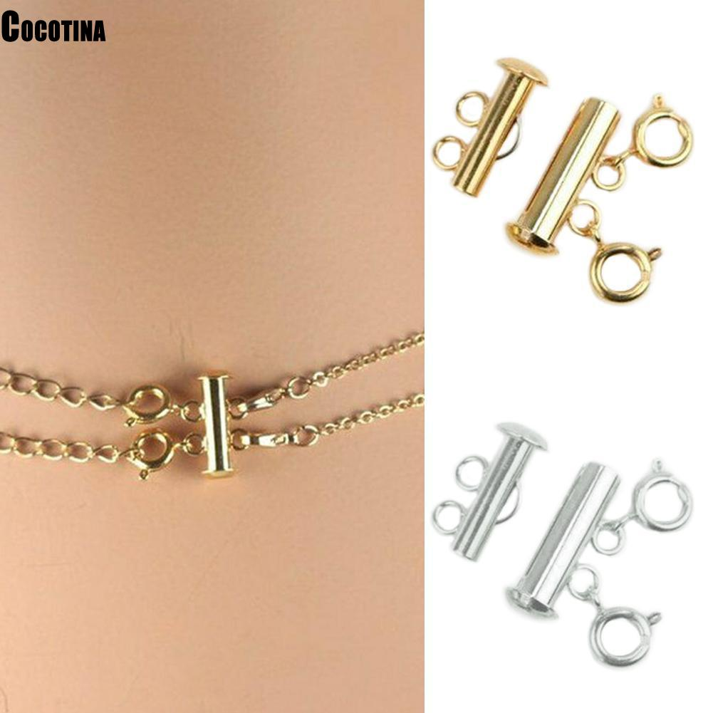 Super New 2019 Multi Strand Necklace Detangler Untangling Layered Necklace Clasp Spacer Women Girl Necklace