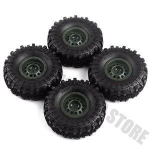 "Image 5 - 4Pcs/Set 1.9inch Rock Terrain Truck Tires&1.9"" Plastic Wheel Rim for 1:10 RC Crawler Axial SCX10 90046 AXI03007 Tamiya CC01 D90"