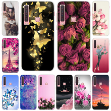 Floral Case For Samsung A9 2018 Cover A 9 A920F Soft Silicone TPU Phone Case For Samsung Galaxy A9 2018 A920 SM-A920F Case Cat смартфон samsung galaxy a9 2018 sm a920f 6 128gb blue