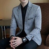 Plus size 5xl blazer slim masculino mens suits blazers 3 color one button full sleeve Classic mens blazer vintage suit jacket