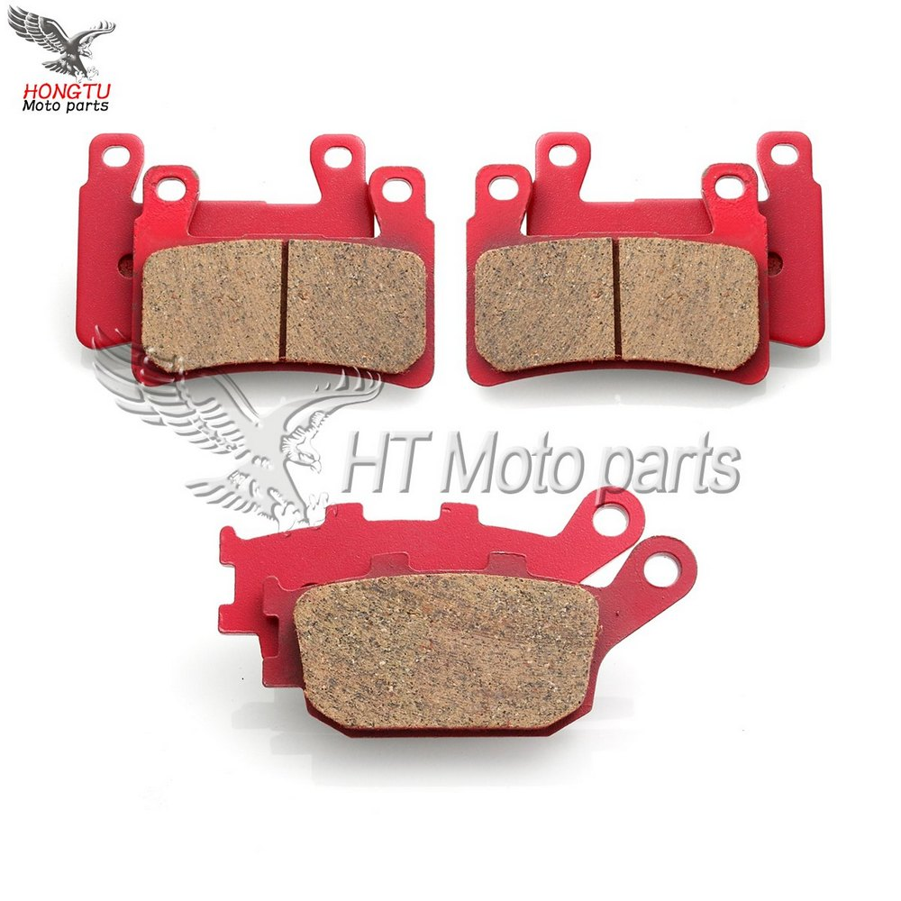 Fits 2006-2014 Honda Ridg Front Rear Drill Slot Brake Rotors+Ceramic Pads