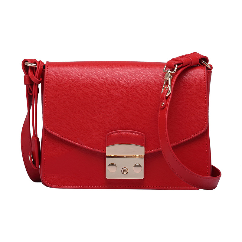 ZXR9001 European and American New women's bag single Shoulder Bag Brand Top Layer Cowhide Leather Small Square Messenger Bag