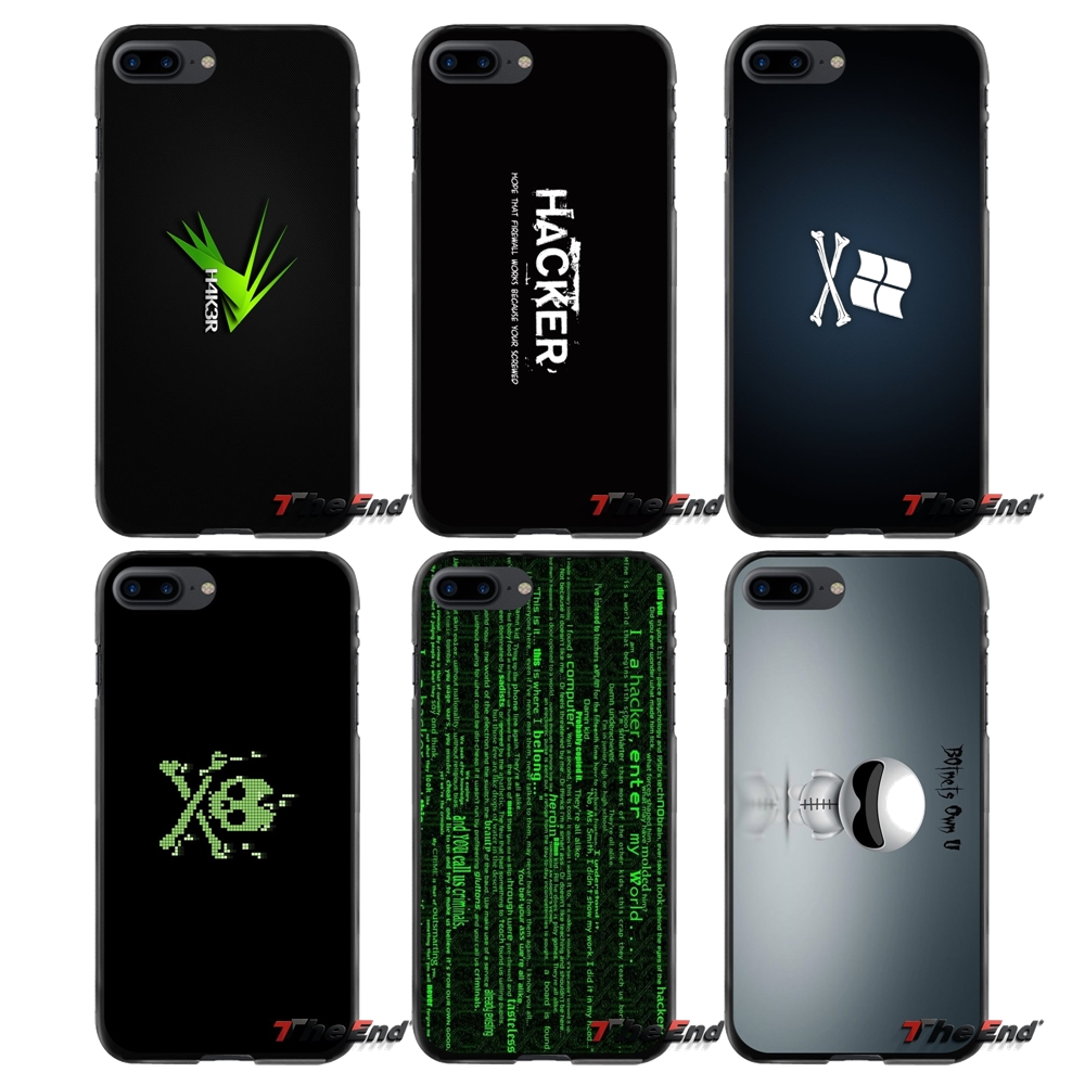Linux Hacker For Apple iPhone 4 4S 5 5S 5C SE 6 6S 7 8 Plus X iPod Touch 4 5 6 Accessories Phone Shell Covers