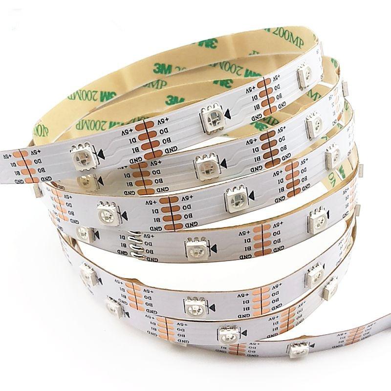 5m/roll WS2813 Smart led pixel strip,Black/White PCB,30/60 leds/m WS2813 IC;better than WS2812B strip,IP30/IP67 DC5V цена