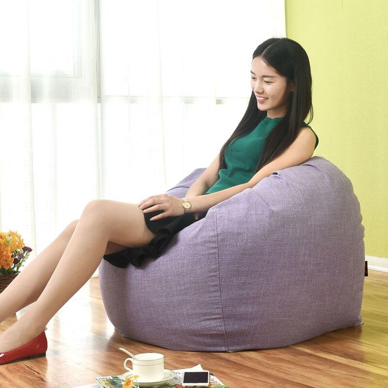 Pouf Simple canapé paresseux Simple Tatami Ottomans amovible et lavable chambre balcon paresseux pouf canapé chaise