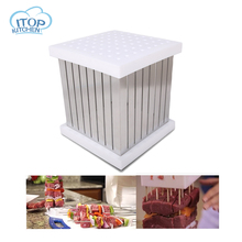 ITOP 64 Holes BBQ Maker Meat Skewers Kebab Box ABS Plastic + Stainless Steel Material