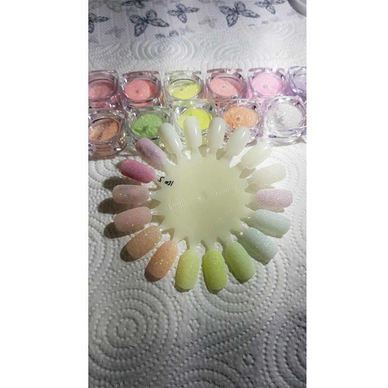 Mtssii 12 حلوى السكر لون مسحوق مسمار بريق الباستيل لامعة فائقة غرامة مسمار الفن الصباغ مسحوق الغبار Paillette لتقوم بها بنفسك الأشعة فوق البنفسجية هلام البولندية