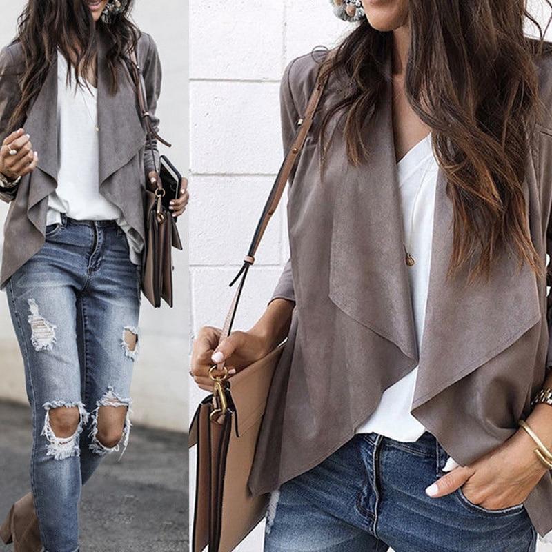 US Womens Waistcoat Plaid Duster Coats Jackets Ladies Outwear Cardigan Plus Size