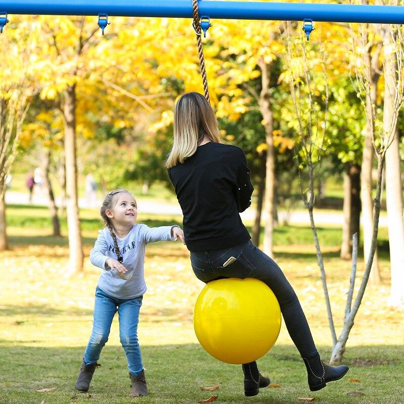 Grande balançoire balle maternelle aire de jeux balançoire extérieure intérieure enfants adultes Gym balançoire avec corde épaisse