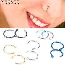 PINKSEE 1 пара милые гипоаллергенные стальные носовые кольца шпильки носовые кольца украшения для ушного пирсинга
