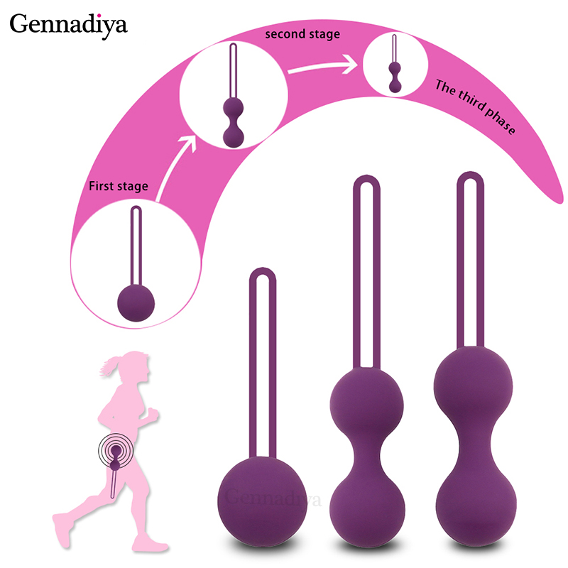 Medical Silicone Vibrator Kegel Balls Exercise Tightening Device Balls Safe Ben Wa Ball For Women Vaginal Massager Adult Toy