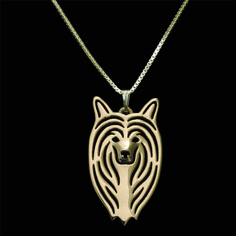 Chinese Crested Dog Pendant Necklaces Gold-color For Women Animal Jewelry & Cloth Accessories 2017