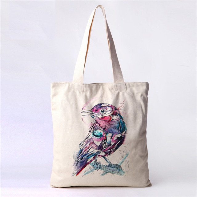 Free Shipping Shopping tote bag Diy Hand drawing design canvas bag Cotton  Handle shoulder bag c58c32088fc49