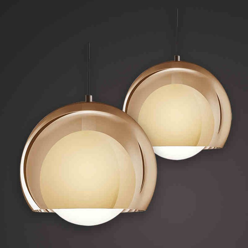 New Modern Arylic Shade Glass Ball Pendant Light Fixture