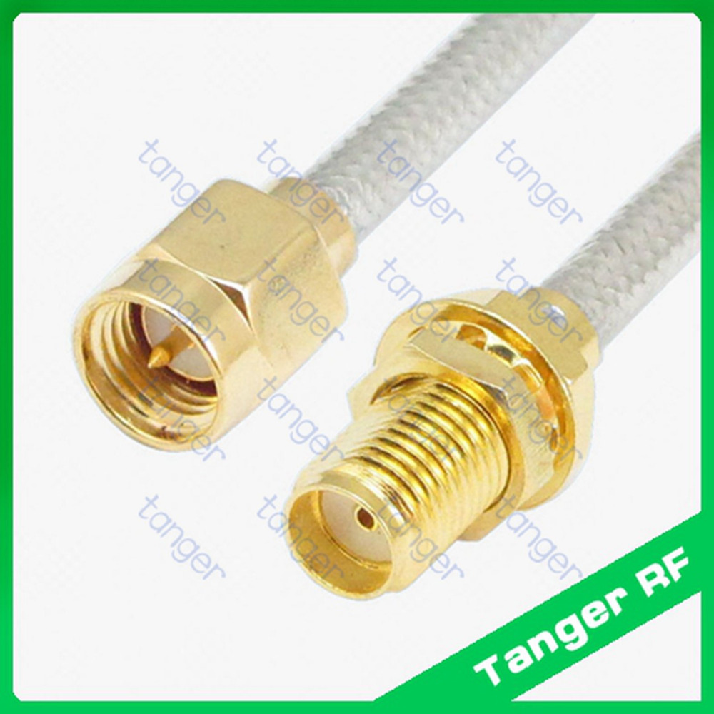 High quality SMA male to female straight connector with RG402 RG141 RG-402 RF Coax Jumper 8inch 8″ 20cm Semi Flex Low Loss cable