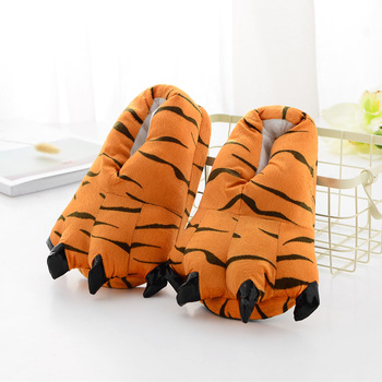 Косплей животных лапы тапочки смешные Тапочки обувь для мужчин женщин ребенок теплый мультфильм домашние тапочки динозавр тапочки-лапы