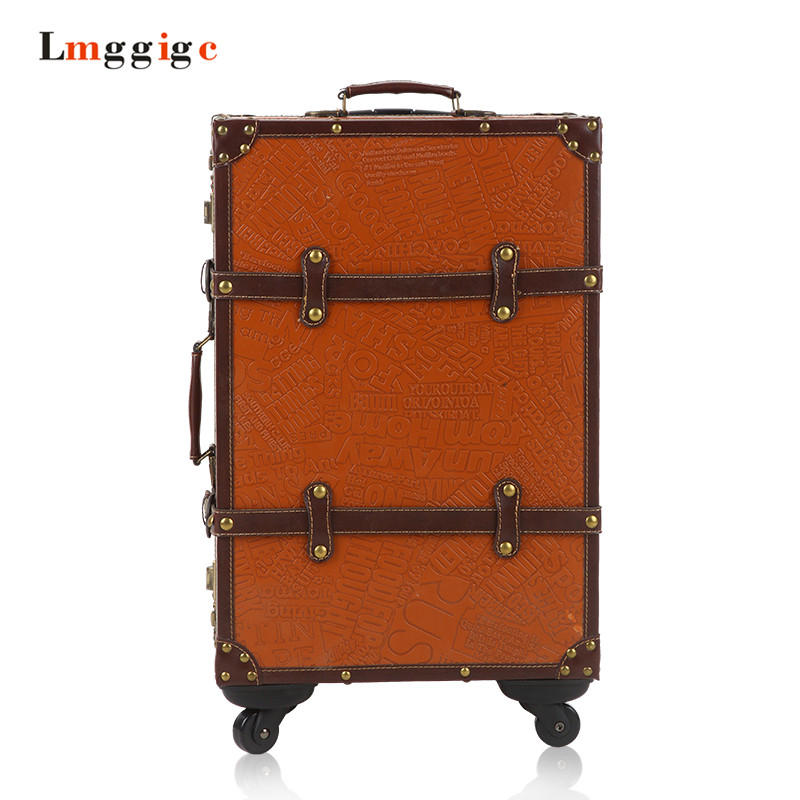 Multiwheel PC Luggage Carry-On bag,Vintage Rolling Hardside Suitcase case,Nniversal wheel Spinner Travel box with Password Lock 19inch leopard pattern hardside abs pc suitcase rolling luggage