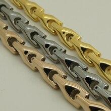 10mm de anchura Hombres joyería forever classic cadena de la bici de alta tecnología a prueba de arañazos brillante pulsera de tungsteno