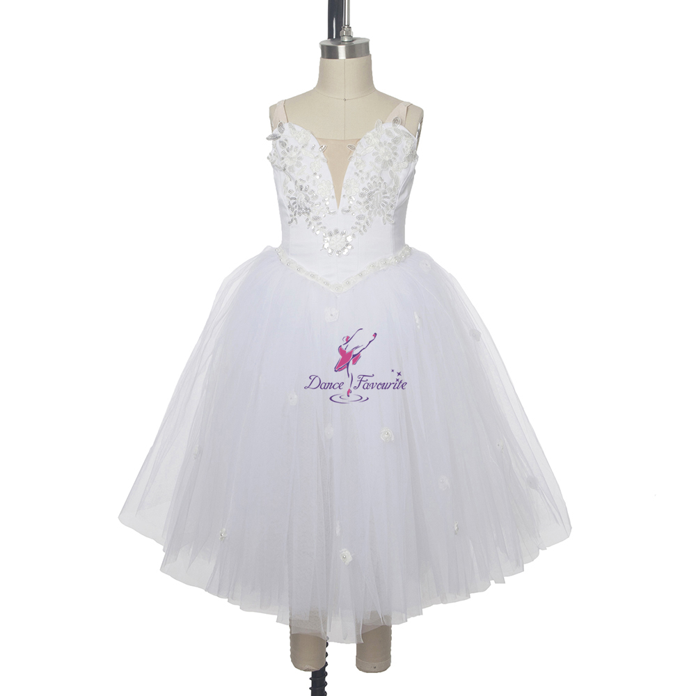 White swan lake ballet dance tutu romantic tutu dress for girls custom tutu professional ballerina dancing dress KM0017