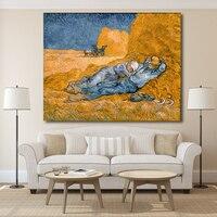 Ручная работа люди отдыхают от работы Винсента Ван Гога настенная живопись маслом на холсте настенная живопись картина для гостиной