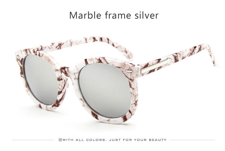 HTB1MgwfSXXXXXaoXXXXq6xXFXXXq - Marbling Sunglasses Women Round Frame PTC 268